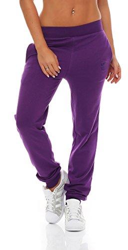 Gennadi Hoppe Damen Jogginghose Trainingshose Sweat Pants Sporthose Fitness Hose,lila,Medium
