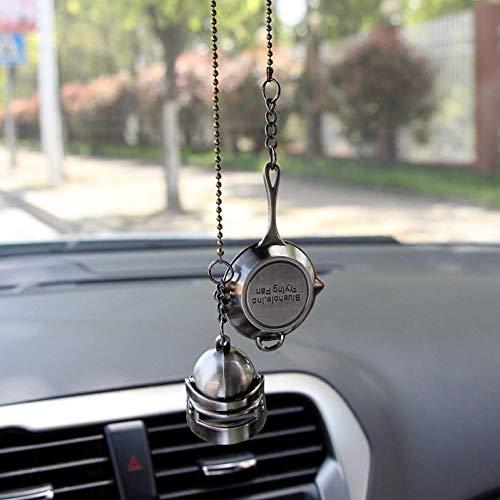 KJHKJH Auto Anhänger Metallpfannen Waffe Für Pubg Playerunknowns Schlachtfelder Hängen Auto Rückspiegel Ornament Auto Dekoration Borte