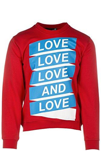 Love Moschino felpa uomo originale rosso EU M (UK 38) M 6 470 09 M 3581 O9