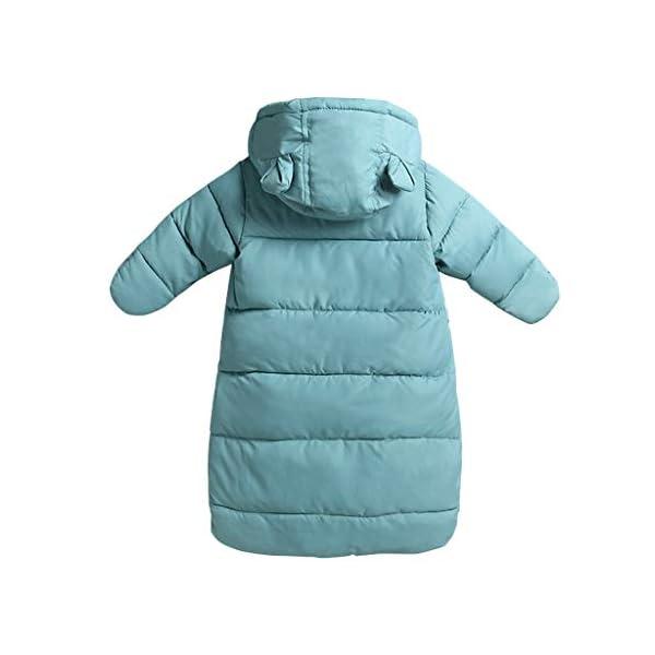 Saco de dormir para bebés 3 Tog, Recién Nacido Mangas Largas con Capucha Mameluco Invierno Frente de Cremallera 0-3…