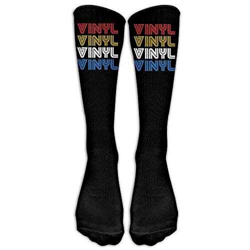 ssed VINYL Record Comfort Cool Vent Crew Socks,One Size ()