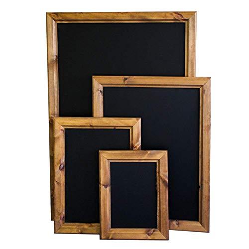 Chalkboards UK Tableau Noir encadré en Bois, Bois Dense, Noir, A0 (131 x 89.5 x 5cm)