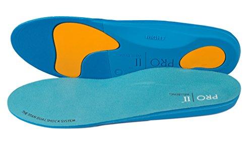 pro11Wellbeing Wellbeing–Sohle orthopädischen Dualshock Titan für Sport für ein besseres Gleichgewicht–Basis Hartschale für sur-pronation und Unterstützung der Plantarfasziitis., Blau - blau - Größe: L (Pronation)