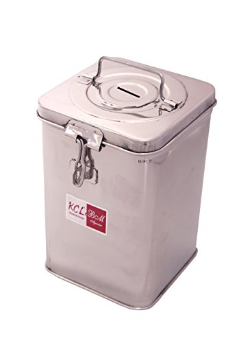 KCL Coin Box Stainless Steel Loris Big