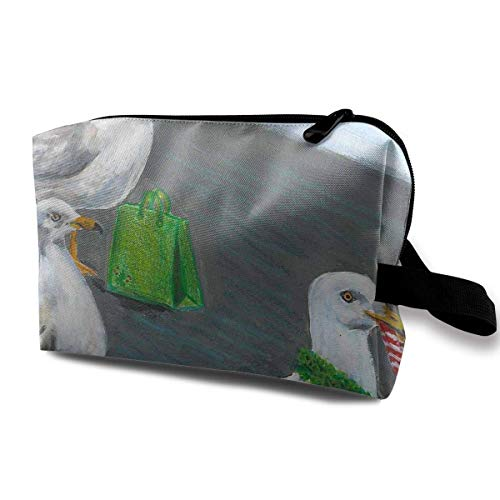Seagull Shopper Magic Makeup Bag Lazy Cosmetic Bag Portanle Travel Handbag