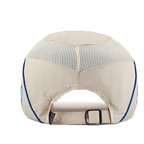 Hualing Hommes et femmes Printemps et ¨¦t¨¦ Chapeaux Sports de plein air Quick - s¨¦chage Net Caps Travel Sun Hat bleu marin