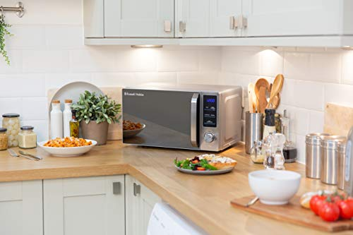 Russell Hobbs Rhm2086ss Buckingham 20 Litre Stainless Steel Digital Microwave With Blue Led