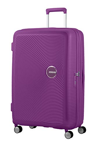 American Tourister Soundbox - Spinner Large Expandable Equipaje de Mano, 77 cm, 110 Liters, Morado (Purple Orchid)