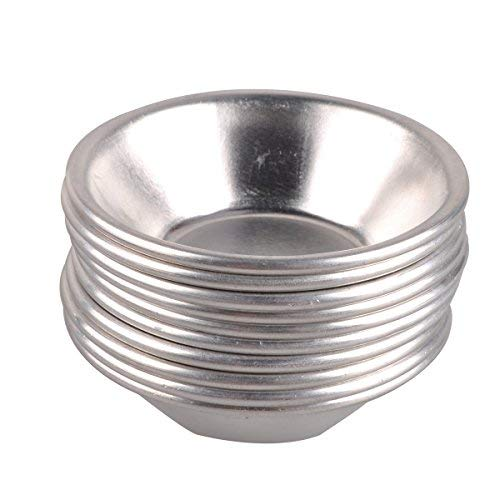 ezakka Ei Tart Form Pfannen Mini Pie Dose hitzebeständig antihaftbeschichtet Aluminium Mini Cupcake Kuchen Pan Cookie Jello Schokolade Pudding Form Dose Backen Werkzeug Backförmchen 20-Pack Jello Cookies
