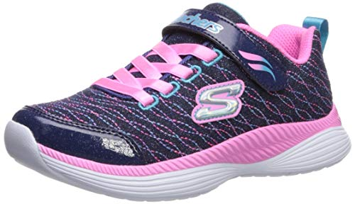 Skechers Girls' Move 'N Groove Spinner Trainers, Blue Navy Sparkle Mesh/Pink & Multi Trim Nvpk, 11.5...