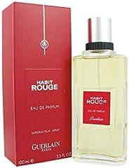 Guerlain Habit Rouge - Perfume for Men, 100 ml - EDP Spray
