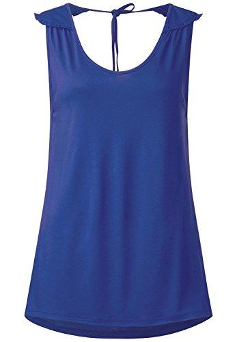 Street One Damen Top mit Schleife im Nacken lapis blue (blau)