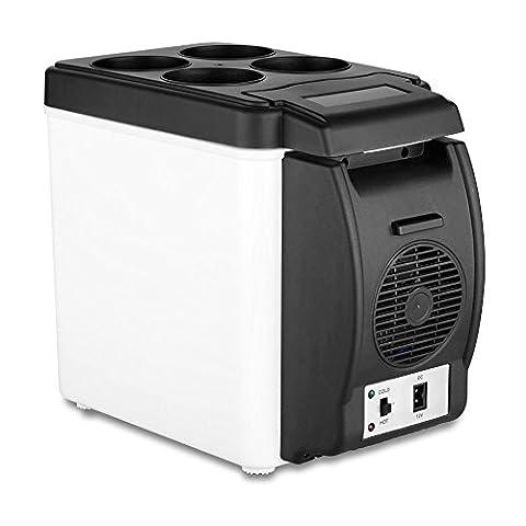 LanXi® 12V 6L Auto Mini Erwärmen-Kühlschrank LKW Camping Kühlbox Elektrisch für Auto und Steckdose