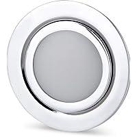 LED Slim Muebles Foco Metal IP4412V de cromo brillante–Válido en lata de rasante de 60mm de diámetro–tagesweiß (4000K)