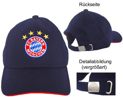 FC Bayern München Baseballcap Kappe Logo navy (Navy Fußball Hut)