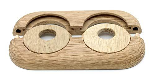 nogal 19/mm haya 22/mm 15/mm roble cerezo cubierta para tubos de calefacci/ón distancia de los tubos variable madera real: arce caoba Doble roseta para calefacci/ón de tubos