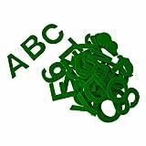 Alphabet aus Acrylfilz, selbstklebend, ca. 5 cm, grün - 80 Stück