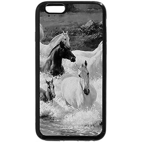 6S-Cover per iPhone Plus, iPhone 6 Plus Case & bianco (nero)-Scii a monte