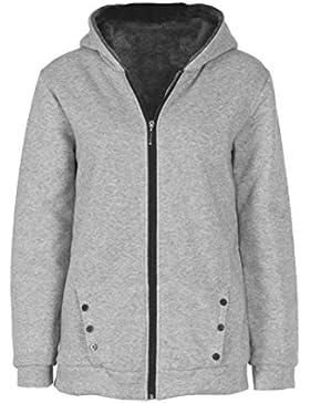 [Patrocinado]Internert Chaqueta de abrigo con capucha de invierno cálido para mujer Sobretodo Parka Ropa larga