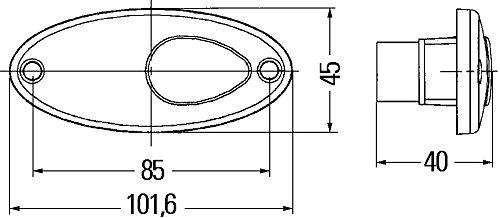 HELLA 2PF 964 295-021 Positionsleuchte, Einbau vorne links/rechts waagerecht/senkrecht, 12 V, W5W,  glasklar