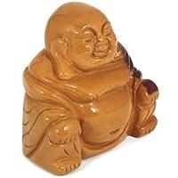 Mookait sitzender Buddha Statue (gelb) preisvergleich bei billige-tabletten.eu