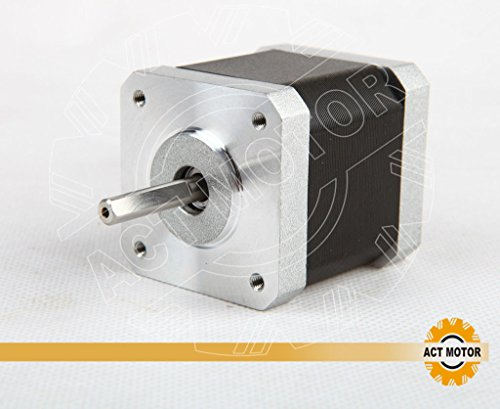 ACT MOTOR GmbH 1PC 17HS5415P1-X6 D-Flat Nema17 Stepper Motor Bipolar 48mm Body 55Ncm Torque 4Wire 1m Cable and Connector 1.5A with 1.8° 4.2V for 3D Printer CNC