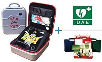 Defibrillatore Semiautomatico Life-POINT Pro AED - Piastre adulti incluse e cartello DAE - Cassetta di pronto soccorso family in OMAGGIO