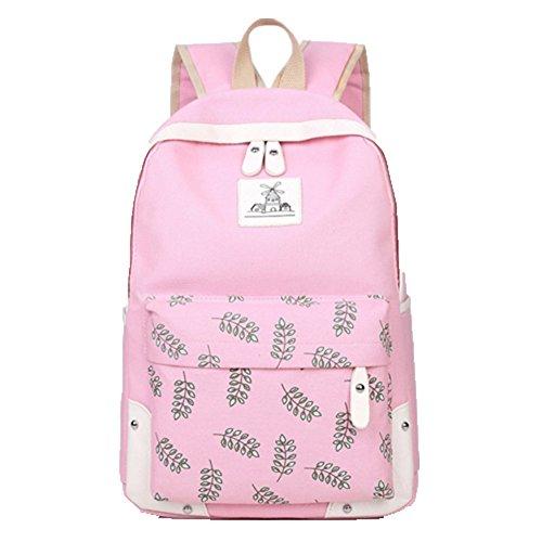 Ohmais Rücksack Rucksäcke Rucksack Backpack Daypack Schulranzen Schulrucksack Wanderrucksack Schultasche Rucksack für Schülerin pink