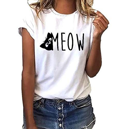 er Grace Damen Mädchen Frauen Offene Schulter Plus Size Casual Täglichen Party T-Shirt Tops Bluse Herren Unisex Chor Kostüm Paar tragen/White7,L ()
