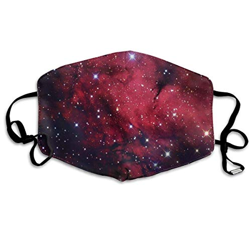 liang4268 Mundmasken Galaxy Space Star Red Washable Reusable Safety Mask Cotton Anti Dust Half Face Mouth Mask for Kids Teens Men Women Lovers Dustproof with Adjustable Ear - Child Star Kostüm