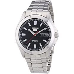 Seiko Herren-Armbanduhr XL Automatik Analog Edelstahl SNKL09K1
