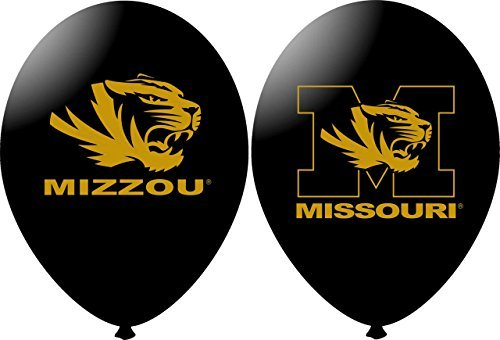NCAA Missouri Tigers Black 11 Latex Balloons by Havercamp