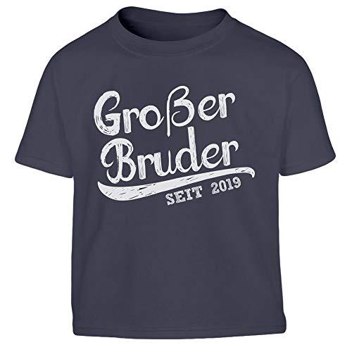 Großer Bruder seit 2019 Kleinkind Kinder Jungen T-Shirt 106/116 (5-6J) Marineblau -