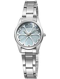 SJXIN Hermoso Reloj de Gama Alta SKONE, Reloj en Forma de corazón con Forma de