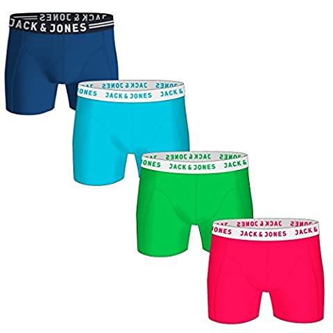 JACK & JONES Herren Boxershorts Jacneon Trunks Noos , Farbe:4er Pack #Neon;Größe:M
