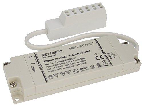 Heitronic Elektronischer Transformator 35-105W 12V AC inkl 150mm
