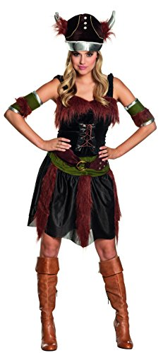 Boland 87742 - Erwachsenenkostüm Wikingerin Freya, Größe 44 / (Wikinger Frau Kostüm)