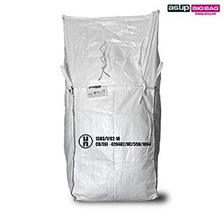 Asup UN Dangerous Goods Big Bag 90 x 90 x 110 cm Apron Inline SWL 1000 kg, White