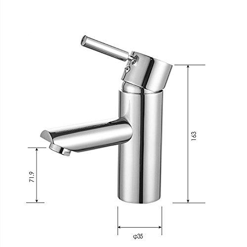 Hlluya Wasserhahn für Waschbecken Küche Die Präzision der Rostschutzmittel Standard Durchmesser der Bohrung von keramischen Ventilelement Wasserhahn