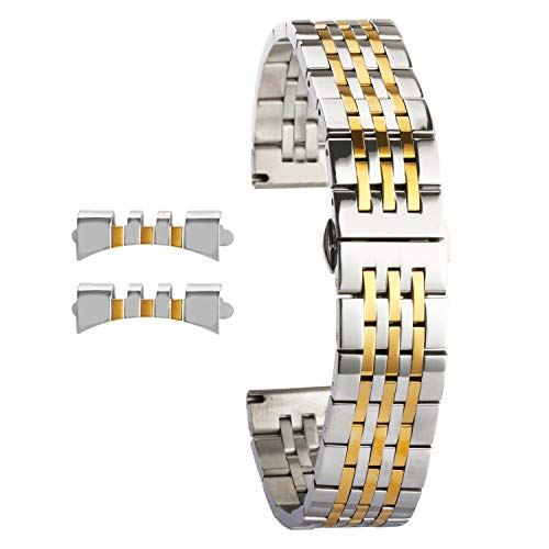 Edelstahl Uhrenarmbänder Ersatz für Damen Splitter Gold Uhrenarmband