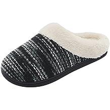 Zapatillas de HomeTop para mujer, de espuma viscoelástica, para interiores y exteriores