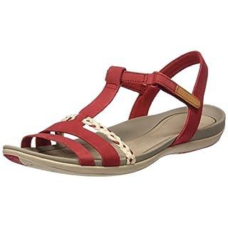 Clarks Tealite Grace, Women's Open Toe Sandals, Red (Red Nubuck), 5 UK (38 EU)