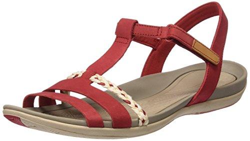 Clarks Damen Tealite Grace T-Spange, Rot (Red Nubuck), 37.5 EU Red Nubuck Schuhe