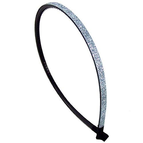 52-208 - Cheveux pour cheveux PVC revêtement paillettes cm 0,5 x cm 13 diamètre - Bulles pour cheveux bleu ciel