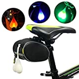 Blue : Waterproof Bicycle Led Lamp Mountain Bike Cycling Night Warning Rear Light Bicycle Accessorie Tail Egg Heart Light