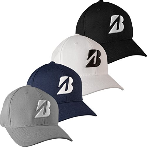 Bridgestone Hi-Tech Hybrid Performance Mens Golf Water Repellant Cap. Grey. (Bridgestone Cap)