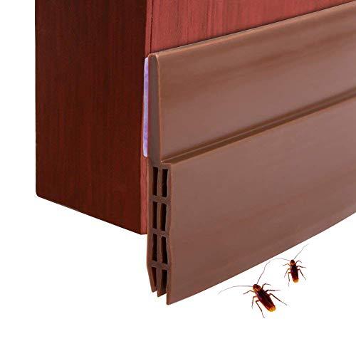 Tür-boden-dichtung (Dricar Türdichtung Tür-Boden-Dichtungs-Streifen Schalldichtung Fensterdichtung, Warme und Kälte Blocker 5cm Breite x100cm Länge (Braun))
