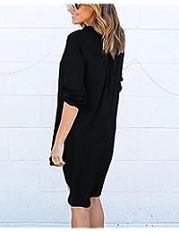 e13b7bf2c857 Amazon.it  abito nero lungo - Chemisier   Vestiti   Donna  Abbigliamento
