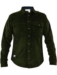 Jack South Mens Jacksouth Designer Manches Longues en Velours Côtelé Coton  Extensible Chemise 064c75faf25