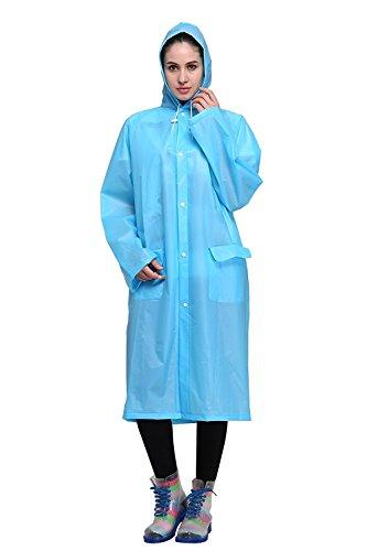 Regenponcho von Outry, Regenjacke Regenmantel, Poncho, Regencape, Rad-Regenponcho, regenponcho fahrrad, regenkleidung für das Fahrrad (M, Blau)